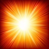 Star burst red and yellow fire. EPS 10. Vector file included Stock Photo