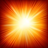 Star burst red and yellow fire. EPS 10 Royalty Free Stock Images