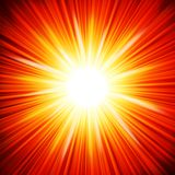 Star burst red and yellow fire. Stock Image