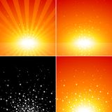 Star Burst Set Royalty Free Stock Photos