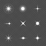 Star burst with sparkles. Over transparent background vector illustration