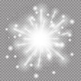 Star Burst with Sparkles. Vector illustration on Transparent  Ba Stock Photography