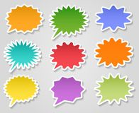 Star burst stickers set. Star burst stickers. Paper starburst shape sticker vector collection isolated on white background stock illustration