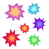 Star bursting boom.Comic book explosion set. Hand drawn vector. Illustration Stock Photography