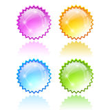 Star bursting icon Royalty Free Stock Photos