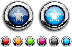 Star button. Stock Photo