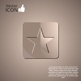 Star Button on the Background. Made in vector Stock Photo