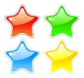 Star buttons Stock Images