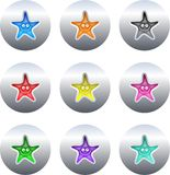 Star buttons vector illustration