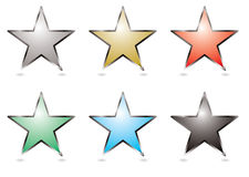 Star buttons Royalty Free Stock Image