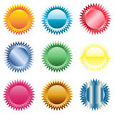Star buttons, badges. Vector format available Stock Image