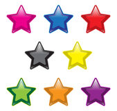 Star Buttons Royalty Free Stock Photography