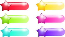Star buttons. Set of different colored star buttons Royalty Free Stock Photo