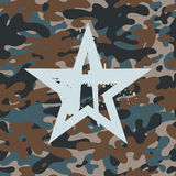 Star on camouflage Royalty Free Stock Photography