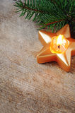 Star candle Royalty Free Stock Photos
