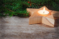 Star candle Royalty Free Stock Images