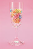 Star candy in glass. Colorful star candy in glass Stock Photography