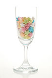 Star candy in glass. Colorful star candy in glass Stock Images