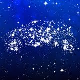 Star car image generated hires texture Royalty Free Stock Image