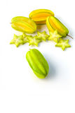 Star carambola or star apple  starfruit  on white background Royalty Free Stock Photography