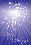 Star card  christmas illustration Stock Images