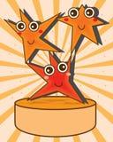 Star cartoon award. Illustration graphic happy star cartoon award orange background Royalty Free Stock Photos