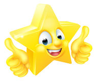 Star Cartoon Mascot Giving Thumbs Up Stock Photos