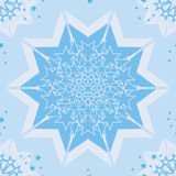 Star center pastel blue seamless pattern stock illustration