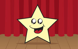 Star Character On Stage Royalty Free Stock Photos