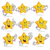Vector set of star mascot stock illustration