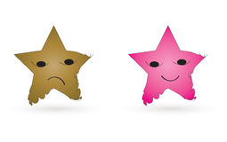 Star characters. In white background Royalty Free Stock Photography