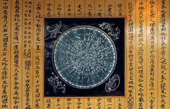 Star chart. Several hundred years ago, star chart and astronomy works written which the Chinese drew Stock Photography