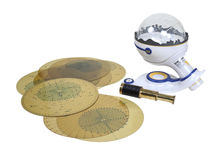 Star charts and Planetarium. For tracking and identifying the sky for navigation and education - Path included royalty free stock images