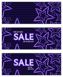Star chase sale banner RGB Stock Photography