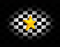 Star and checkered flag Stock Images