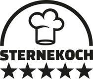 Star chef gourmet german. Vector Royalty Free Stock Image