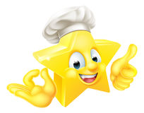 Star Chef Mascot Stock Images