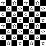 Star chessboard background icon great for any use. Vector EPS10. Royalty Free Stock Image