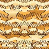 Star Chevron seamless pattern Stock Images