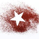 Star in chocolate powder Stock Photos