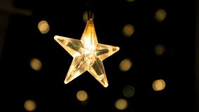 Star. The Christmas star close to stock video