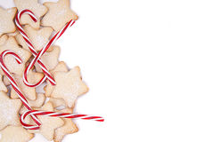 Free Star Christmas Cookies And Candy Canes Royalty Free Stock Images - 28517629