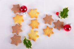 Star Christmas cookies Stock Photo