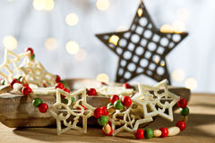 Star with Christmas decoration Stock Photos