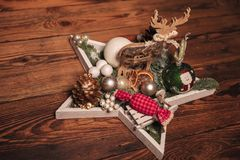 Star christmas table decoration Royalty Free Stock Photo
