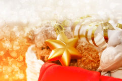 Star Christmas toy in a box Stock Photos