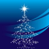 Star christmas tree. Grouped illustration for easy editing Royalty Free Stock Photography