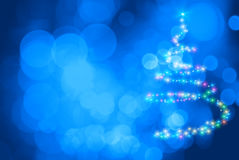 Star Christmas tree Royalty Free Stock Photos