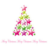 Star Christmas tree. Illustration for your design Stock Photo
