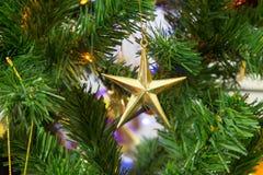 Star on Christmas tree Stock Image
